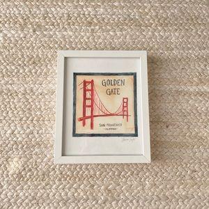 Framed golden gate art print
